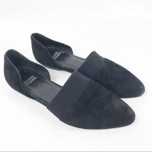 Eileen Fisher Flute Pointy Toe Flat Black Suede